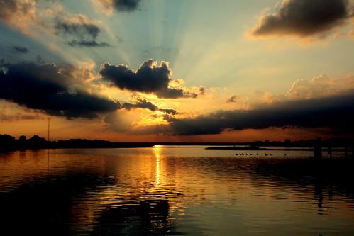 sunset sky nature clouds bay newjersey wildwood postcreekbasin