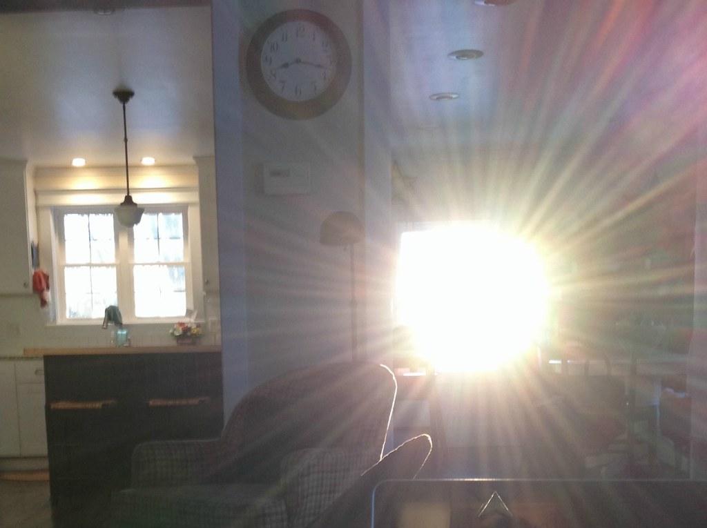 sun shinning through clean windows