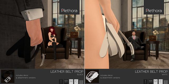 Plethora - Leather Belt Props