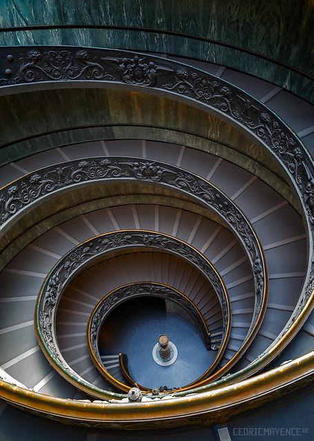 Escalier de Bramante - Vatican - Rome
