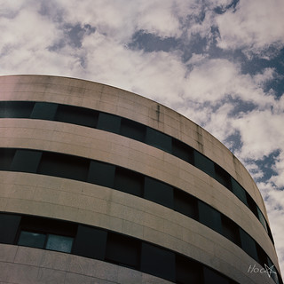 Round Building in Santa Coloma de Gramanet, Barcelona, Spain. | by Red Grave - Photographer