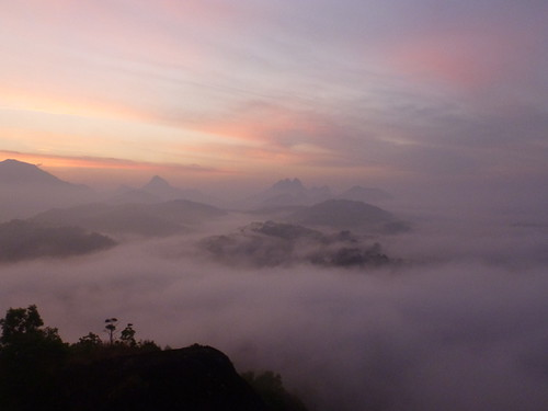 india mountain clouds sunrise kerala ashram sivananda
