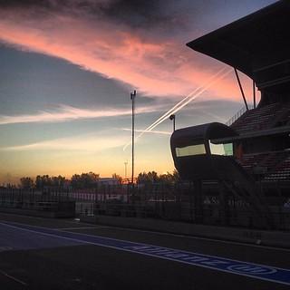 Good morning Cataluniya #iphone4s #formula1 #f1 #sunrise #barcelona