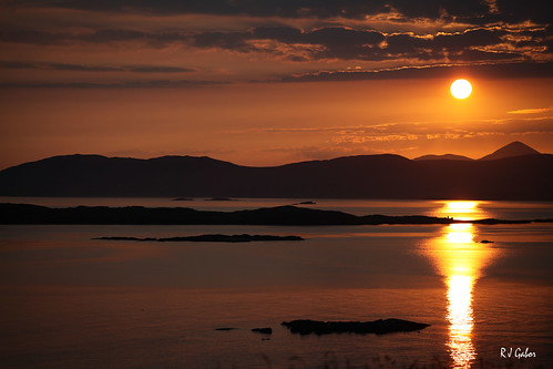 ireland water sunrise rinvyle