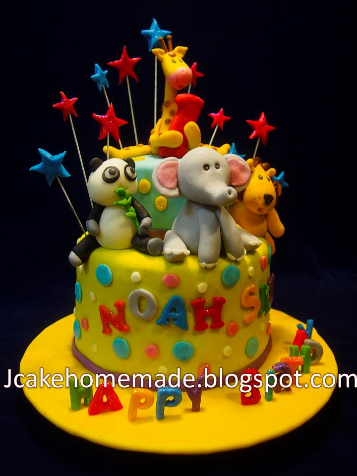 Sensational Animals Birthday Cake A Photo On Flickriver Funny Birthday Cards Online Benoljebrpdamsfinfo