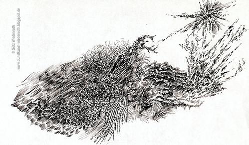 ZZZ9_AlP_34032_Federzeichnung_Studie_Strukturen | by Götz Wiedenroth • www.wiedenroth-karikatur.de
