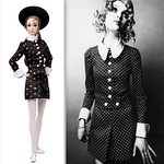 Go See! Poppy Parker \ 1968 Madeleine Smith in polka-dot minidress by Biba