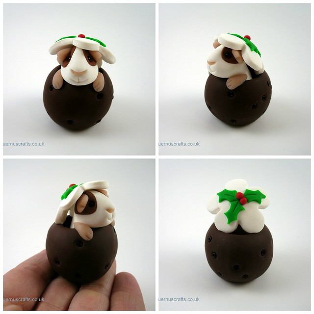 Little Guinea Pig in Christmas Pudding