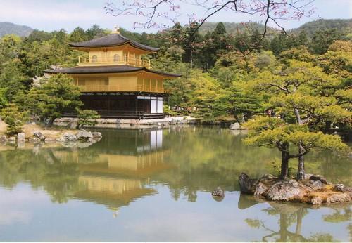 圖07.金閣寺是室町文化輝煌代表 , 樓閣貼有金箔得名