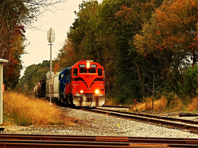 South Shore freight at Stillwell Indiana