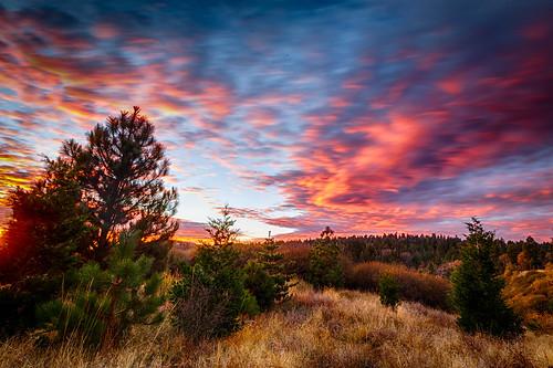 lakearrowhead california unitedstates us travel sunset trees clouds canon