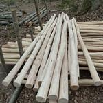 Peeled Chestnut poles