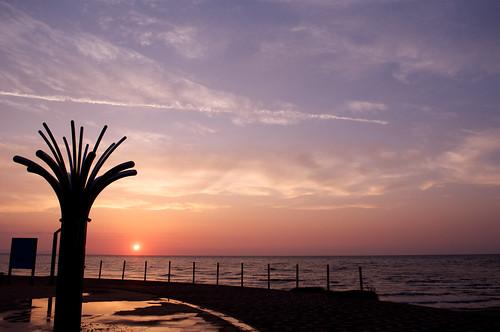 sunset japan niigata 2012 fujitsukabeach 藤塚浜海水浴場