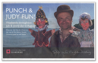 Punch & Judy Fun - IWCP Newspaper ad. | by s0ulsurfing