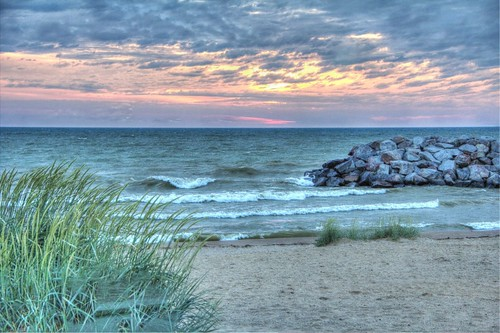 park summer lake beach wisconsin clouds sunrise canon cloudy overcast lakemichigan hdr greatlake benderpark 60d picsplay