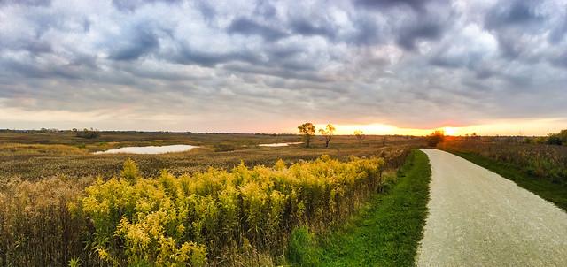Sunset - Springbrook Prairie Forest Preserve