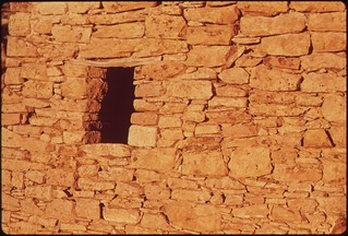 Ancient Indian dwelling, built between 1100 and 1300 A.D.. Hovenweep National Monument, 05/1972.