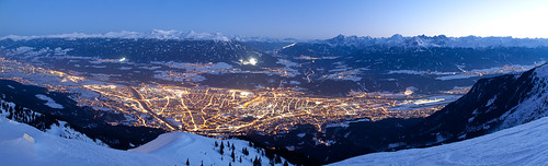 panorama austria tirol nacht events berge orte landschaft innsbruck nordkette objekte bergeuminnsbruck