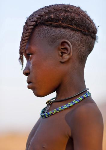 Himba Girl, Okapale Area, Namibia   Himba women are famous
