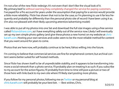 Note on my future use of Flickr