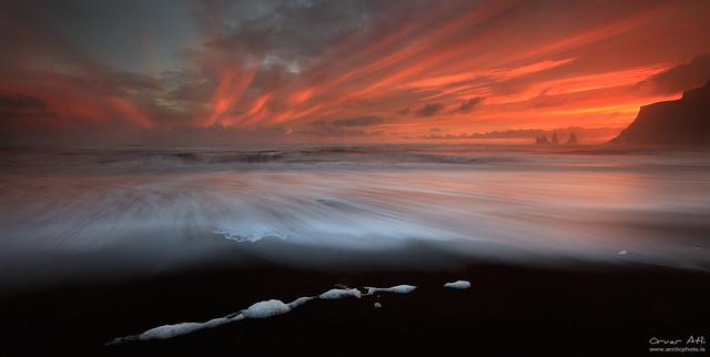 Sunset Symmetry - Vík, Iceland