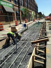 Fiberglass Rebar Installation, 3rd St NE