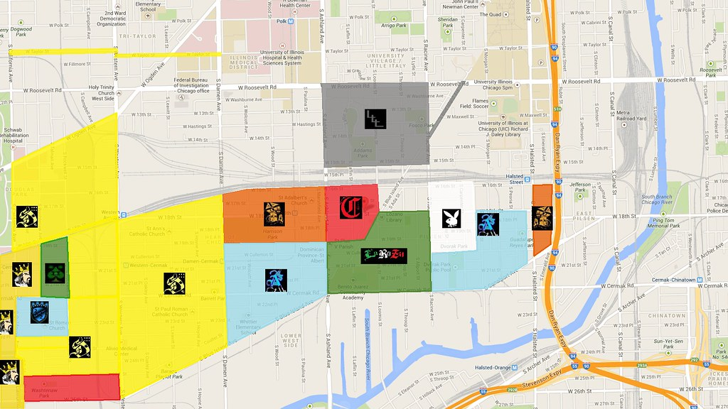 Pilsen Gang map | I found this updated map of pilsen gangs ...