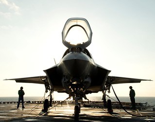 F-35B is secured aboard USS Wasp. | by Official U.S. Navy Imagery