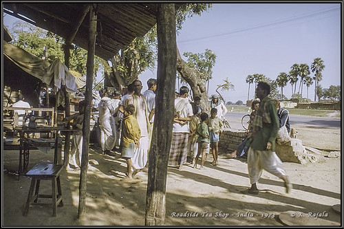 Roadside Tea Shop - India - 1973