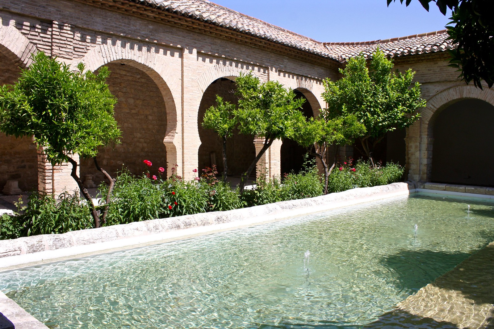Courtyard with horseshoe arches, Church of the Magdalena, Jaén, Spain