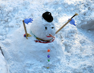 After the fall:  A New York snowman, West 10th Street, Greenwich Village | by Spencer Means