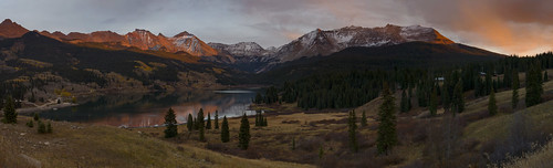 troutlake colorado sunset mountains panorama reflections