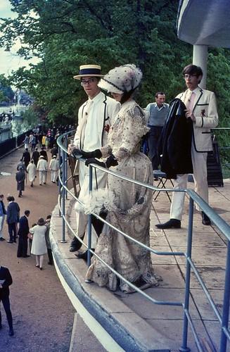 1967.00-01b Oxford. Eights Week 1967, Corpus Christi College Boathouse.