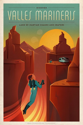 Travel Poster: Valles Mariners | by Official SpaceX Photos