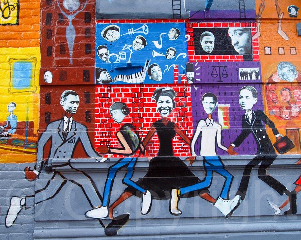 HARLEM HISTORY Mural by Paul Deo, Corner Social Restaurant