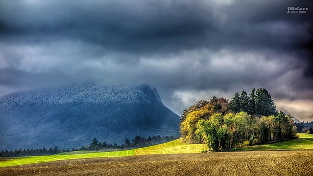 When clouds hidding mountain.