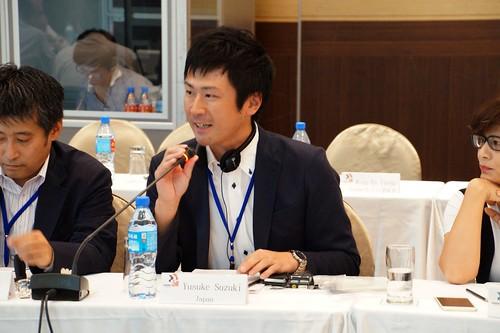 圖08Yusuki Suzuki先生對「日本石油工業的現況與挑戰」進行捕充說明