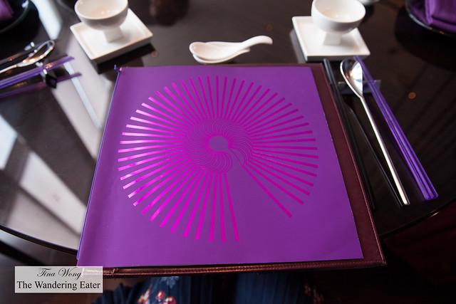 Menu of YEN restaurant