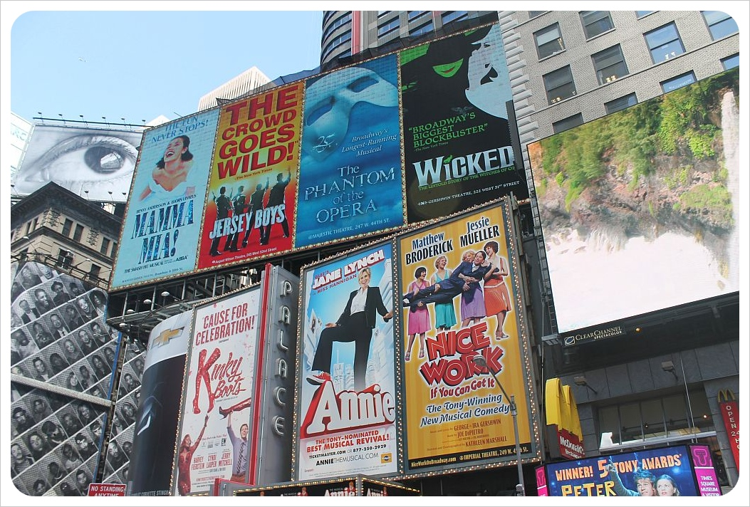 times square billboards new york city