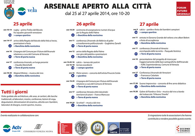 Programma Arsenale Aperto_2014