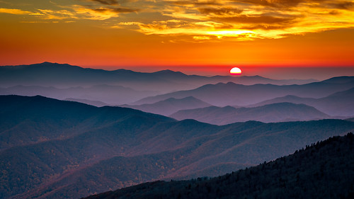 sunset unitedstates tennessee northcarolina gatlinburg clingmansdome 2014 brysoncity