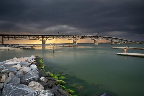bridge seascape storm squall moody dusk cyan anger chesapeakebay yorkriver yorktownvirginia georgepcolemanbridge storyweather leefilters benrotravelangeltripod nikon2485gvr nikond610 062stopndgradfilter angerintheheavens