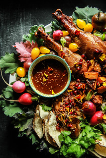 Spice Roasted Turkey with Mole Sauce- nut and gluten free from HeatherChristo.com | by Heather Christo