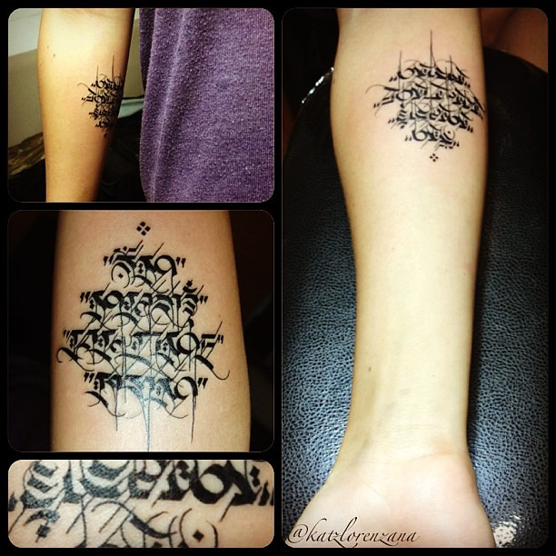Om Mani Padme Hum Tattoo With At Toonuh Katzify Flickr