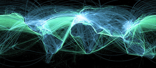 Global Air and Sea Routes | by Dominic's pics