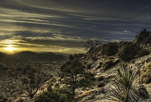 california sunset daylight nikon day desert cloudy joshuatree sunny hdr topaz joshuatreenationalpark sanbernardinocounty photomatix d80 vanhyning