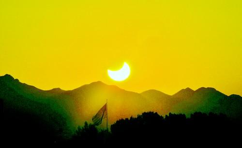 Solar Eclipse 2012 Sunset