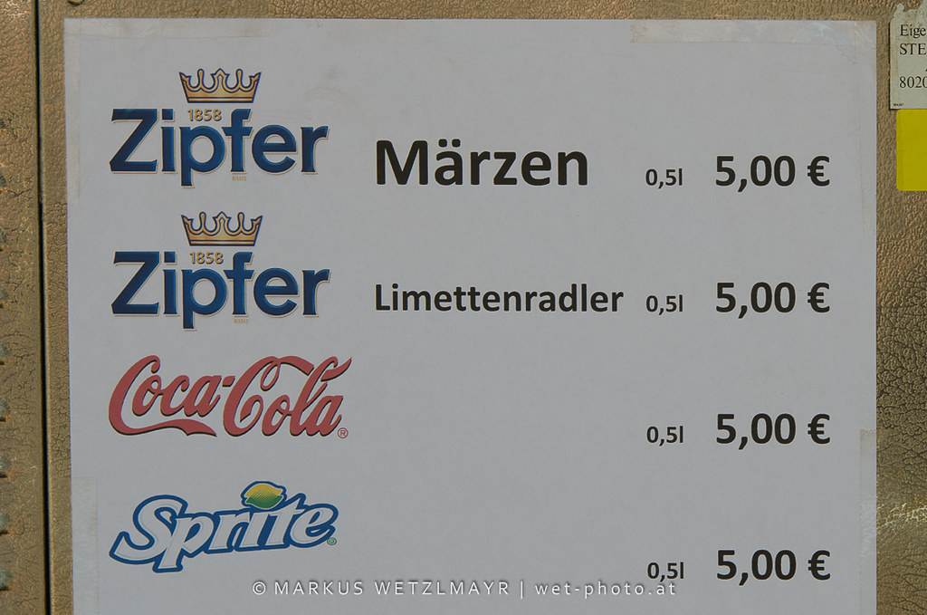 Beer prices @ See Rock 2013 Festival near Schwarzl See, Graz, Styria, Austria on June 21, 2013