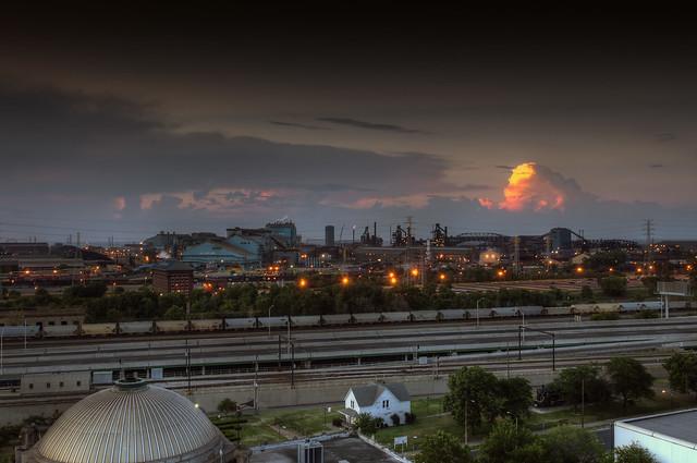 Steel Mill Sunset