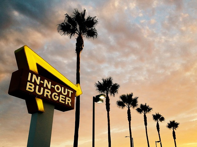 [explored] in-n-out and sunset.